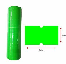 Green Pricing Gun Labels 3k Pcs 3 Rolls Hole 22x12mm Lynx Ct1 Puma Motex 🔥