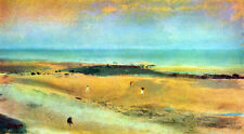 """perfect  48x24 oil painting handpainted on canvas """" Beach At Low Tide"""" NO4054"""