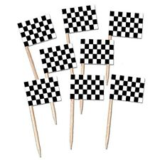 Race Car Party Checkered Party Cupcake Picks Pack Of 50 CLOSEOUT