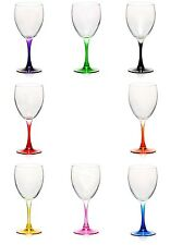 Purple Green Black Red Orange Yellow Pink Blue White WINE GLASS GOBLET GLASSES
