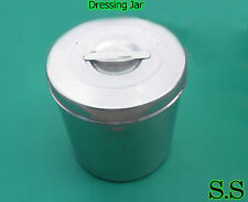 "3 stainless steel Dressing Jar 7x7"" New"