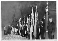 WWII GERMAN- Extra Large 1936 OLYMPIC Photo Image- Torch- Nation Flags