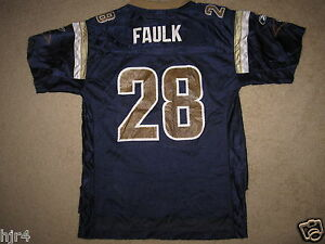 Marshall Faulk #28 St. Louis Rams Reebok Jersey Youth LG 14-16 Large