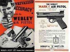 Webley & Scott 1932 Air Pistol Catalog