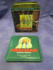 """Vintage 1990 Limited Edition Red Man Chewing Tobacco """"First In America"""" Tin"""