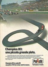 X1899 Pista Champion 80 - Polistil - Pubblicità del 1979 - Vintage advertising