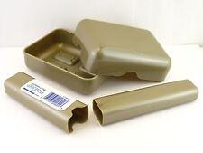 GOODY PLASTIC SOAP DISH & TOOTHBRUSH HOLDER - TAN