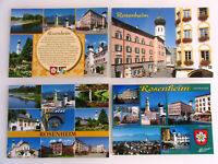 4x ROSENHEIM XL-Postkarte ungelaufen Ansichtskarten Lot Postcards Bavaria Bayern