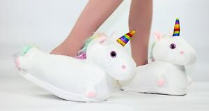 Unicorn LED Light up Slippers Adults or Child Size Uk Seller