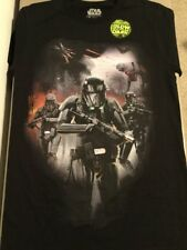 Star Wars STORMTROOPER ARMY Glow In The Dark Black Tee. Brand New. Adult Size S