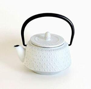 Nanbu Tekki Tea pot Shell (0.3 L), White Silver, New from Japan