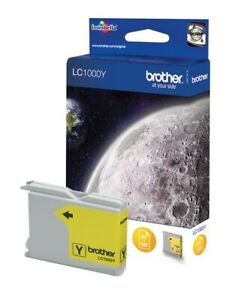 Original Brother LC1000Y Yellow DCP-540CN DCP-560CN DCP-680CN 750CW 770CW O. V