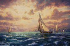 Life Values III by Thomas Kinkade (Framed Art Ocean Landscape Colorful Boat)