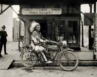 1920'S INDIAN MOTORCYCLE VINTAGE NATIVE AMERICAN CHIEF 8X10 PHOTO POSTER PICTURE