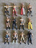 12x WWE WRESTLING ACTION FIGURE TOY BUNDLE JOBLOT MATTEL WWF WCW ECW