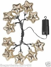 String Lights Christmas Decorations Gold Stellar Glass Star String Light Battery