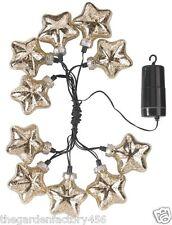 Stringa Luci DECORAZIONI NATALIZIE ORO STELLARE VETRO STAR Stringa Luce Batteria