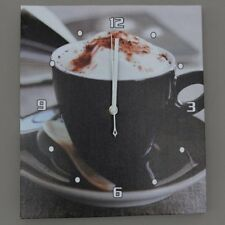 Indoor Wall Clock Coffee Design Cappuccino