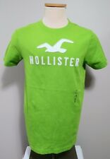 Hollister Men's Short Sleeve Crew Neck Green Spell Out Cotton T Shirt Size M NWT