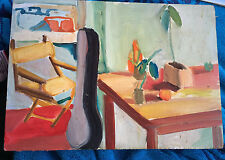 "BARBARA GORDON MODERNIST ABSTRACT STILL Life  OIL PAINTING 1970's  8"" x 11 1/2"""
