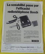 Ancien Fascicules Document Image catalogue Radiotéléphone vintage Bosch 1970 80