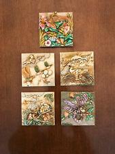 Lot of 5 Picturesque Harmony Kingdom tiles Byron's Secret Garden Noah's Park