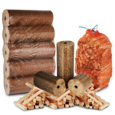 FIRE PIT CHIMINEA STARTER PACK- Extra Large Wood Heat Fuel Logs + 3kg Kindling