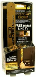TV Free-Way Gold—TV Antenna with Gold Connectors for Signal Transfer