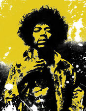 """Jimi Hendrix 34"""" x 22""""  Framed Canvas Print"""