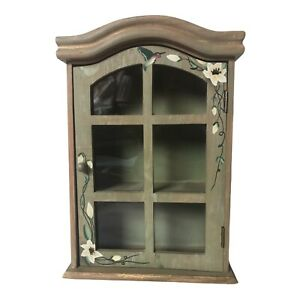 Shabby Chic Small Cupboard Cabinet Display Spice Storage Green Country Cottage