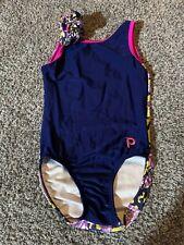 Plum Practice Wear leotard gymnastics Size Cm Child medium With Hair Tie