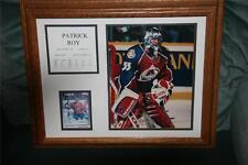 NHL PATRICK ROY framed photo card 1992-1995 GOALIE profile CAREER