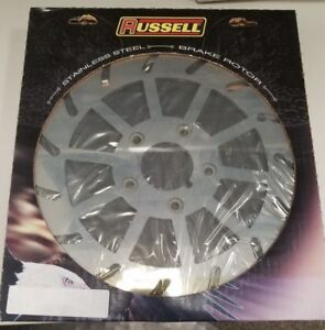 """Russell Turbine Pro Polished 1984 - 1999 Rear Brake Rotor 11.5"""" - Right"""