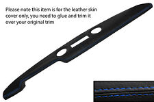 BLUE STITCH PRE AIRFLOW TOP DASH DASHBOARD LEATHER COVER FITS FORD CORTINA MK1