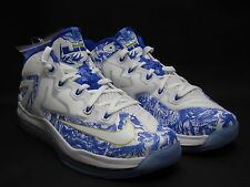 2014 NIKE MAX LEBRON XI LOW CHINA PACK 9.5 WHITE COBALT BLUE 683253-144 CH 11 DS