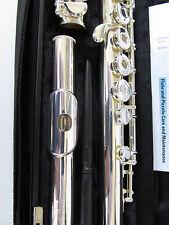 NEW Gemeinhardt 3SHB Solid Silver headjoint Flute, Open-Hole, B-foot, inline G