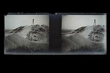 Pèlerinage aux paysages dévastés par la Grande Guerre WW1 Plaque stéréo NEGATIF