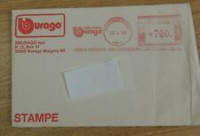 1988 BURAGO ENVELOPE FROM ITALY DATE STAMPED & 1993 BURAGO MINI CATALOGUE