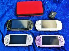 4  x Sony PSP: 1 x 1000, 2 x 2000, 1 x 3004 Slim&Lite lila teildefekt