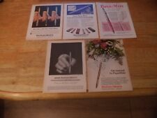 FIVE PAPERMATE   VINTAGE MAGAZINE ADVERT LOT     1970'   S