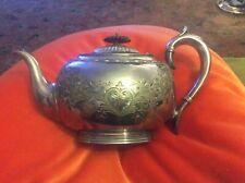 ORNATE VICTORIAN SILVER PLATED TEA POT