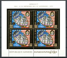 Cambodge Cambodia KENNEDY Space Espace 1974 Gold Foil Or MICHEL 387 A 480 euros