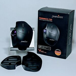 Perixx Perimice-720 Wireless Mouse Ergonomic Trackball Adj. Angle Bluetooth Only