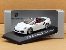 1/43 Porsche 911 Turbo S Cabriolet White Typ 991 Minichamps Model WAP 020 311 0E