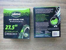 (Qty 2) Slime 27.5x2.0/2.1/2.125/2.2/2.25/2.3/2.4 Smart Tube Bike Tubes Presta