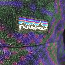 Vintage Patagonia Snap T Synchilla Fleece Pullover M Rare Geometric Aztec Print
