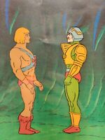 💪 Masters Of The Universe HE-MAN Man-At-Arms animation art cel Filmation MOTU