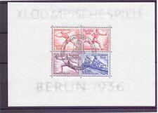 Deutsches Reich 1936 - Olympia Block 6 Sonderstempel - Michel 90,00 € (814)
