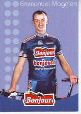 CYCLISME carte cycliste EMMANUEL MAGNIEN équipe  BONJOUR.fr 2002
