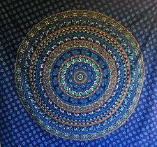 Sofá Blanco Azul Mandala Cubierta De Cama King Size Colcha Cobertor XL propagación de picnic!
